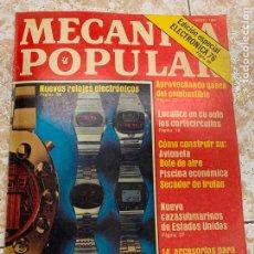 Radios antiguas: REVISTA RADIOAFICIONADO MECANICA POPULAR, EDIC. ESPECIAL ELECTRONICA 76, RELOJES ELECTRONICOS.... Lote 210590711