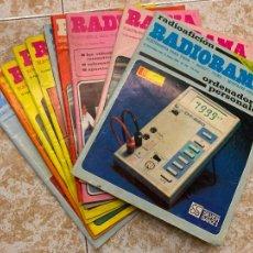 Radios antiguas: LOTE DE 10 REVISTAS RADIOAFICIONADO RADIORAMA. Lote 210598357