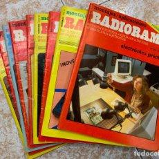 Radios antiguas: LOTE DE 9 REVISTAS RADIOAFICIONADO RADIORAMA. Lote 210599028