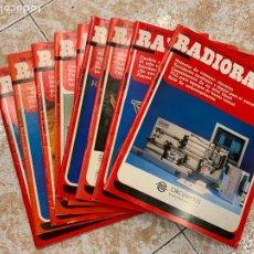 Radios antiguas: LOTE DE 9 REVISTAS RADIOAFICIONADO RADIORAMA. Lote 210599428