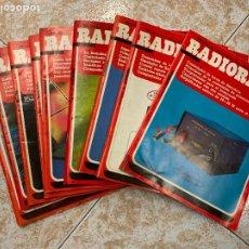 Radios antiguas: LOTE DE 9 REVISTAS RADIOAFICIONADO RADIORAMA. Lote 210599742
