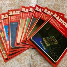 Radios antiguas: LOTE DE 9 REVISTAS RADIOAFICIONADO RADIORAMA. Lote 210600148