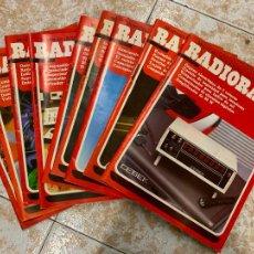 Radios antiguas: LOTE DE 9 REVISTAS RADIOAFICIONADO RADIORAMA. Lote 210600408
