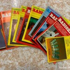 Radios antiguas: LOTE DE 9 REVISTAS RADIOAFICIONADO RADIORAMA. Lote 210600722