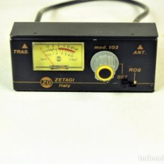 Radios antiguas: MEDIDOR DE ESTACIONARIAS ZETAGI MOD 102. Lote 212284175
