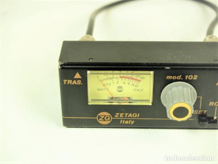 Radios antiguas: Medidor de estacionarias Zetagi mod 102 - Foto 2 - 212284175