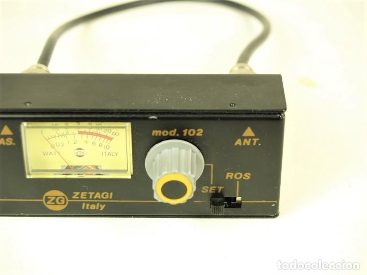 Radios antiguas: Medidor de estacionarias Zetagi mod 102 - Foto 3 - 212284175