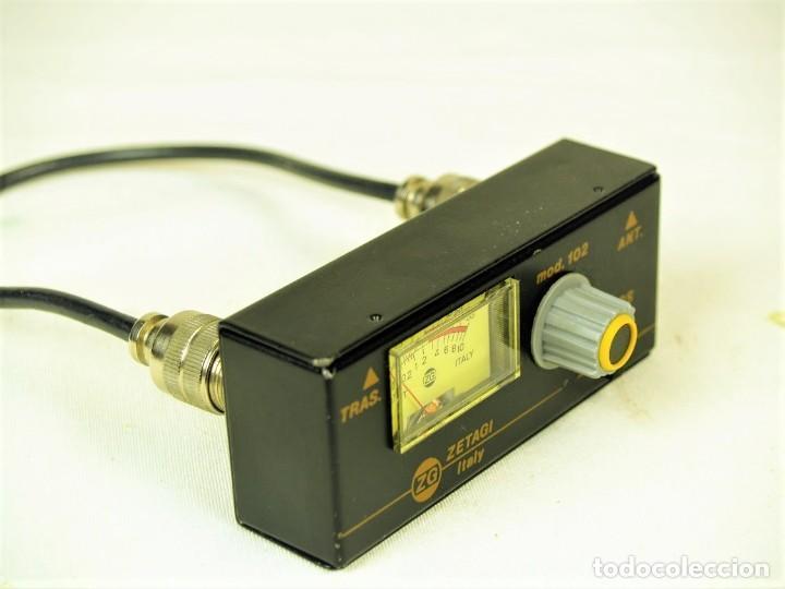 Radios antiguas: Medidor de estacionarias Zetagi mod 102 - Foto 4 - 212284175