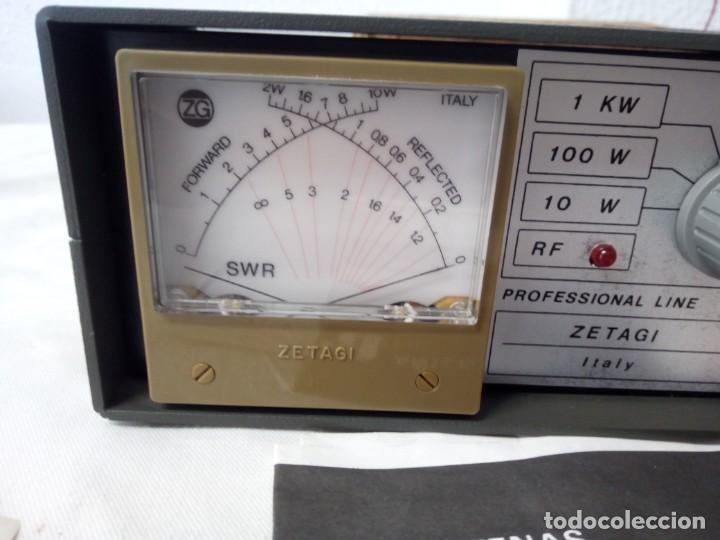 Radios antiguas: MEDIDOR DE POTENCIA RADIO ZETAIG MOD.430 - Foto 3 - 214903105