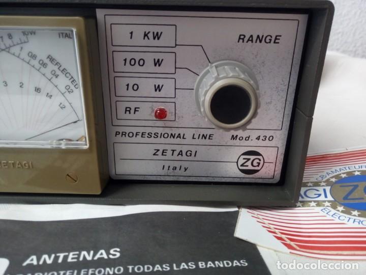 Radios antiguas: MEDIDOR DE POTENCIA RADIO ZETAIG MOD.430 - Foto 4 - 214903105