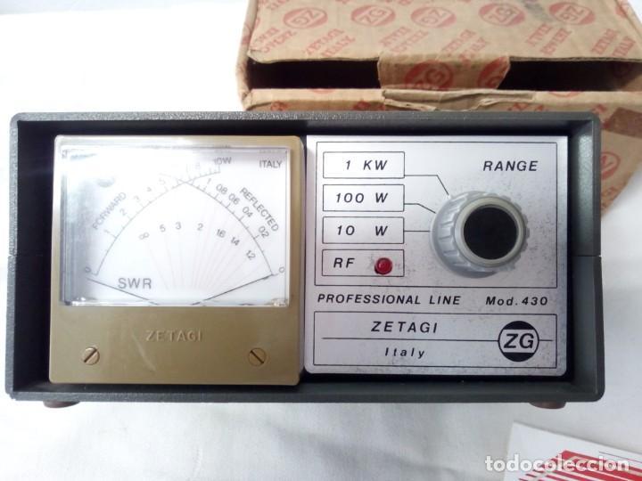 Radios antiguas: MEDIDOR DE POTENCIA RADIO ZETAIG MOD.430 - Foto 6 - 214903105
