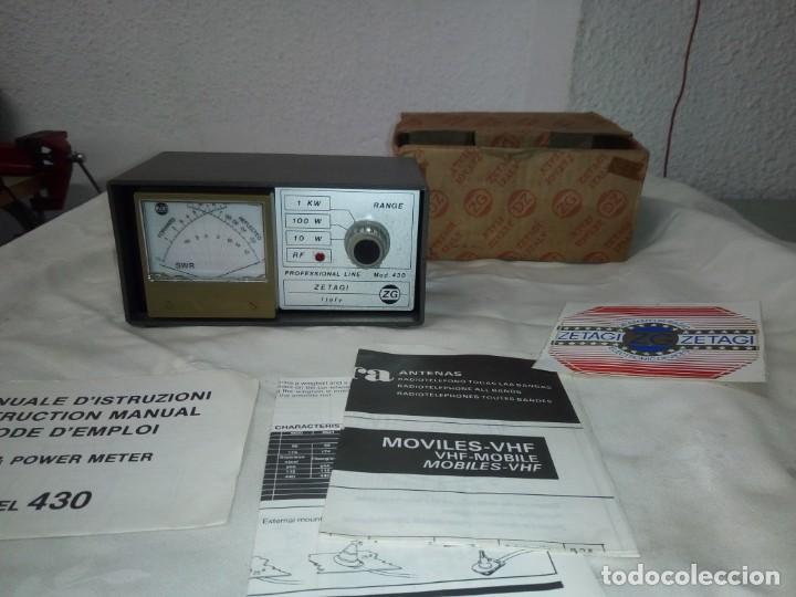 Radios antiguas: MEDIDOR DE POTENCIA RADIO ZETAIG MOD.430 - Foto 7 - 214903105