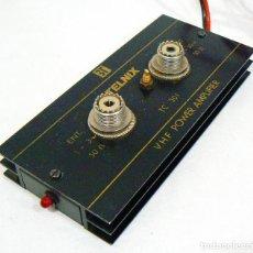 Radios antiguas: AMPLIFICADOR LINEAL DE POTENCIA DE 2 METROS VHF TELNIX TC 301. 30 WATIOS 12 VOLTIOS DC. Lote 215901077