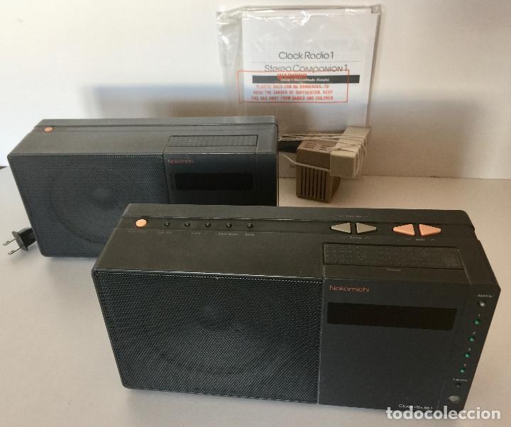 RADIO DESPERTADOR NAKAMICHI JAPON-CONJUNTO DE 2 APARATOS-ALTA FIDELIDAD STEREO-VINTAGE (Radios, Gramófonos, Grabadoras y Otros - Radioaficionados)