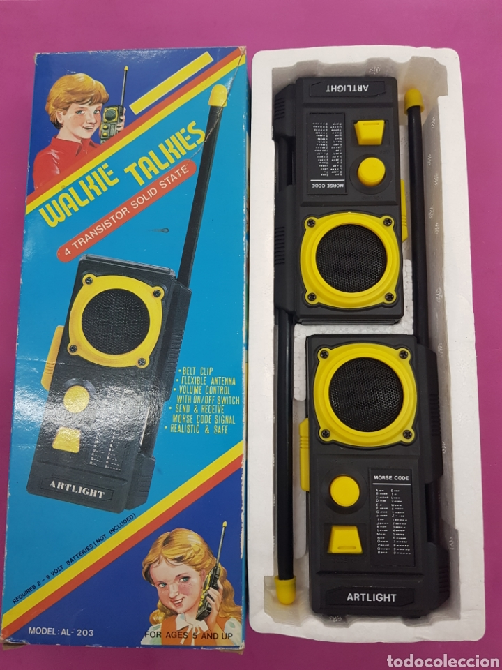 Radios antiguas: Walkie Talkies modelo AL -203 años.1980 - Foto 2 - 218193691