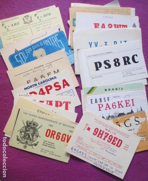Radios antiguas: LOTE DE + DE 400 POSTALES TARJETAS RADIOAFICIONADOS ORIGINALES L2 - Foto 10 - 220943003