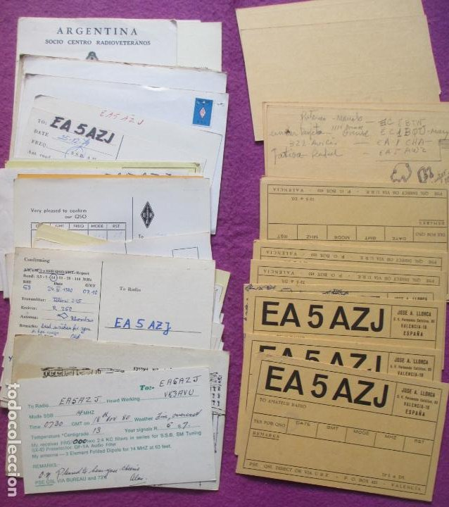 Radios antiguas: LOTE DE + DE 400 POSTALES TARJETAS RADIOAFICIONADOS ORIGINALES L2 - Foto 12 - 220943003