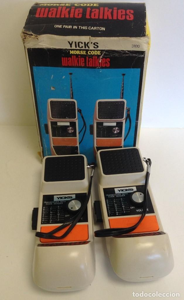 WALKIE TALKIES - MODEL 3.100 - AÑOS 70 - 80 *** YICK´S *** *** MADE IN HONK KONG *** SIN PROBAR (Radios, Gramófonos, Grabadoras y Otros - Radioaficionados)