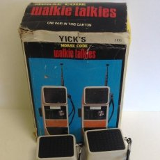 Radios antiguas: WALKIE TALKIES - MODEL 3.100 - AÑOS 70 - 80 *** YICK´S *** *** MADE IN HONK KONG *** SIN PROBAR. Lote 221540577