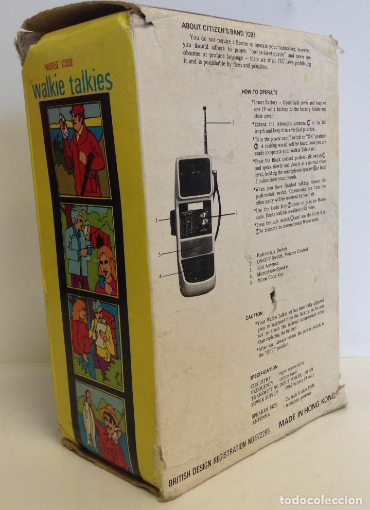 Radios antiguas: WALKIE TALKIES - MODEL 3.100 - AÑOS 70 - 80 *** YICK´S *** *** MADE IN HONK KONG *** SIN PROBAR - Foto 6 - 221540577