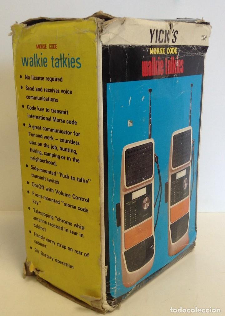 Radios antiguas: WALKIE TALKIES - MODEL 3.100 - AÑOS 70 - 80 *** YICK´S *** *** MADE IN HONK KONG *** SIN PROBAR - Foto 8 - 221540577