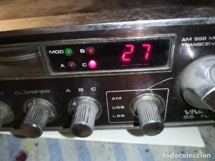 Radios antiguas: Emisora CB marca Vivaly ss705 - Foto 7 - 217560152