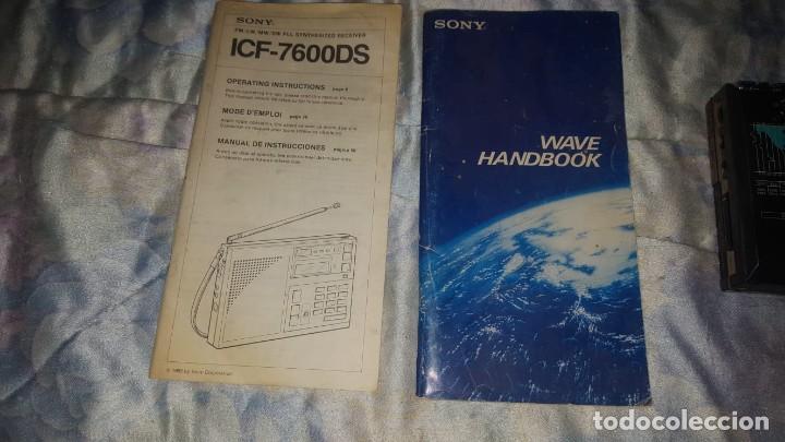Radios antiguas: SONY ICF-7600DS+MANUAL+MANUAL EMISORAS - Foto 3 - 226127795