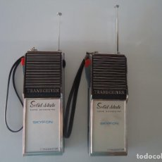 Radios antiguas: PAREJA DE RADIOTRANSMISORES-RECEPTORES SKYFON (MADE IN JAPAN)AÑOS 60-70-HOMOLOGADOS. Lote 227099020