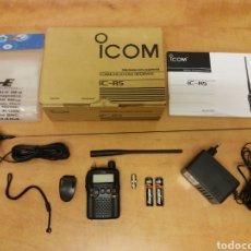 Radios antiguas: ICOM IC R-5 - RADIO RECEPTOR DE COMUNICACIONES SCANNER ( COMO NUEVO ) Y EXTRAS. Lote 228357130
