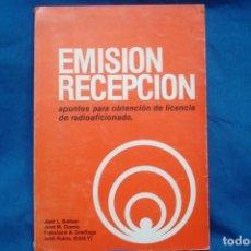 Radios antiguas: EMISIÓN RECEPCIÓN - APUNTES PARA OBTENER LA LICENCIA DE RADIOAFICIONADO - AÑO 1982. Lote 230280915