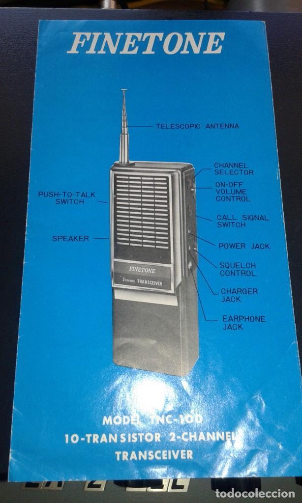 Radios antiguas: PAREJA DE WALKIES FINETONE - Foto 6 - 233594960