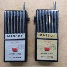 Radios Anciennes: ELECTRONICA, RADIOAFICIONADOS, PAREJA EMISORAS, TRANSCEIVER, MORSE MASCOT - NO SE SI FUNCIONAN. Lote 236448265