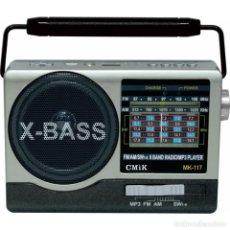Radios antiguas: RADIO MULTIMEDIA USB ALTAVOZ BATERIA RECARGABLE NUEVA. Lote 236881920