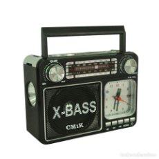 Radios antiguas: ALTAVOZ MULTIMEDIA RADIO RELOJ ALARMA TARJETA USB NUEVO. Lote 248738455