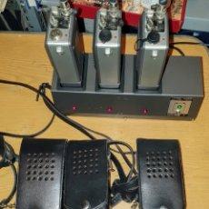 Radios antiguas: 3 WALKIE TALKIE (FUNDA NEGRA DE CUERO) MARCA TELTRONIC, MODELO PR-300, CON 5 CANALES,. Lote 243309120