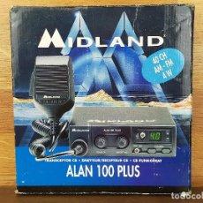 Radios antiguas: RADIO AFICIONADO EMISORA MIDLAND ALAN 100 PLUS EN CAJA. Lote 248043000