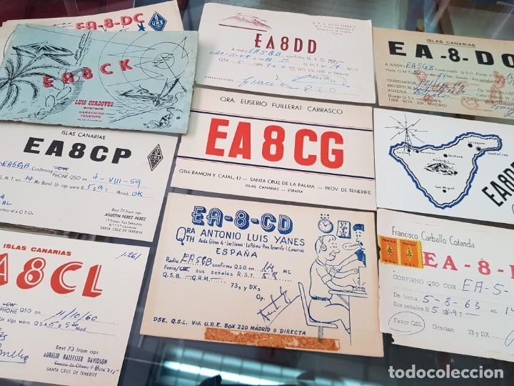 Radios antiguas: LOTE COLECCION ANTIGUAS TARJETAS POSTALES RADIOAFICIONADO CANARIAS TENERIFE - Foto 3 - 248153180