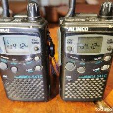 Radio antiche: PAREJA DE WALKIE-TALKIE ALINCO UHF FM DJ-S41C FUNCIONANDO - MUY PEQUEÑOS. Lote 249556985