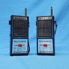 Radios antiguas: PAREJA DE WALKIE - MASCOT TRANSCEIVER - JAPÓN. Lote 251957615