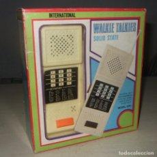 Radios antiguas: WALKIE TALKIES SOLID STATE INTERNATIONAL AÑOS 80 ( A ESTRENAR ). Lote 253010970