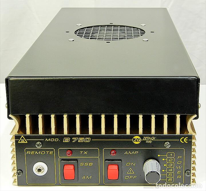 ZETAGI B750 AMPLIFICADOR LINEAL 20-30MHZ CB HF AM FM BLU 600W-AM 1200W-SSB 24V PARA CAMION O BARCO (Radios, Gramófonos, Grabadoras y Otros - Radioaficionados)