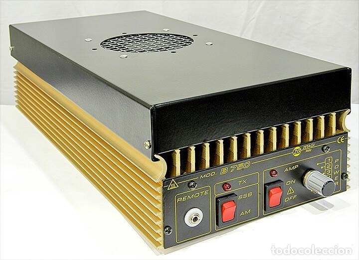 Radios antiguas: ZETAGI B750 AMPLIFICADOR LINEAL 20-30MHz CB HF AM FM BLU 600W-AM 1200W-SSB 24V PARA CAMION O BARCO - Foto 2 - 260099385