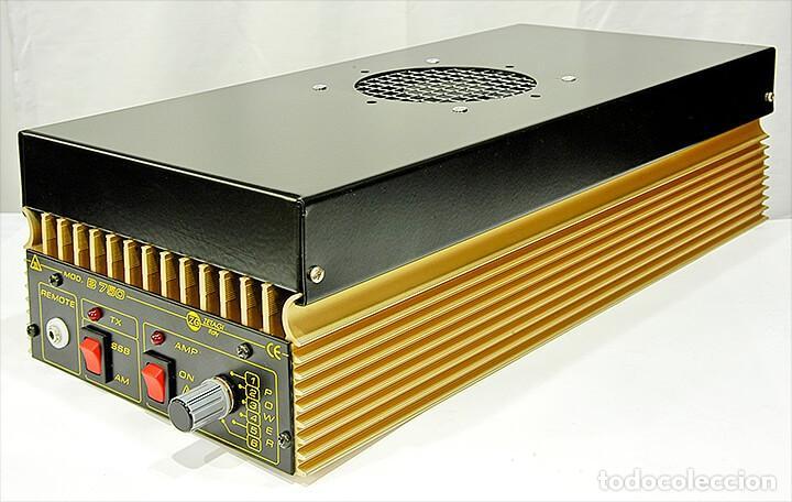 Radios antiguas: ZETAGI B750 AMPLIFICADOR LINEAL 20-30MHz CB HF AM FM BLU 600W-AM 1200W-SSB 24V PARA CAMION O BARCO - Foto 3 - 260099385