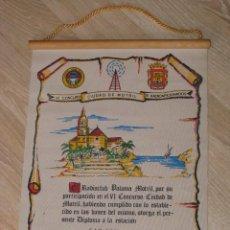 Radios antiguas: DIPLOMA DE CONCURSO DE RADIOAFICIONADOS. MOTRIL 1993. DE TELA. 46X33 CM.. Lote 261534335