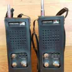 Radio antiche: PAREJA DE WALKI TALKI FINETONE. ANTIGUO MODELO TNC-506 5.WATT.6CANALES 27MHZ TRANCEIVER.. Lote 265451634