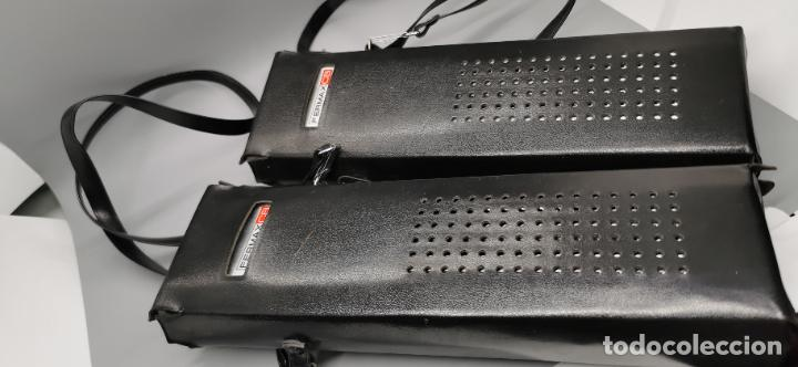 Radios antiguas: Radio teléfono Fermax CB emisor receptor - walkie talkie CON FUNDAS ORIGINALES - Foto 3 - 265802149