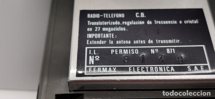 Radios antiguas: Radio teléfono Fermax CB emisor receptor - walkie talkie CON FUNDAS ORIGINALES - Foto 7 - 265802149