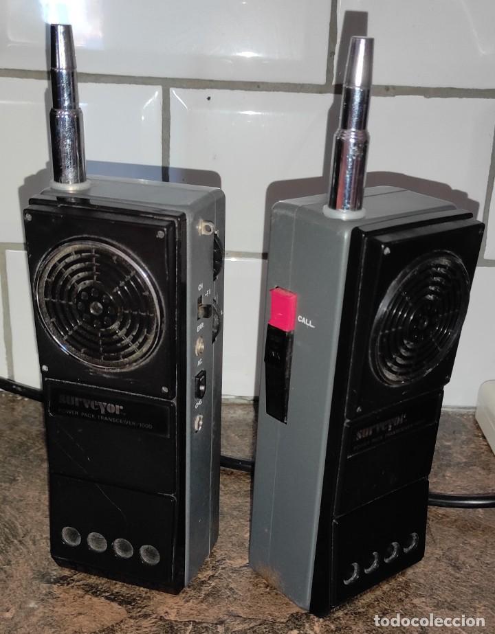 2 RADIOS CB -WALKIE - SURVEYOR POWERPACK TRANSCEIVER 1000 - 27MHZ - JAPAN (Radios, Gramófonos, Grabadoras y Otros - Radioaficionados)