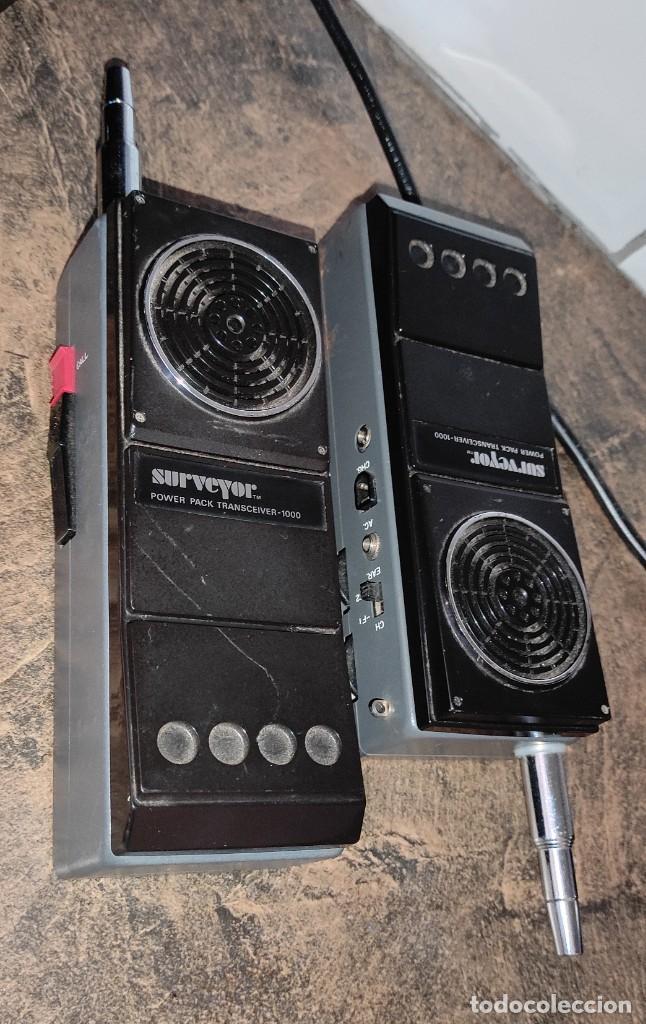 Radios antiguas: 2 RADIOS CB -WALKIE - SURVEYOR POWERPACK TRANSCEIVER 1000 - 27MHZ - JAPAN - Foto 4 - 267351929