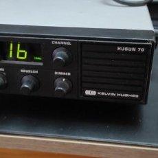 Radios antiguas: RADIO EMISORA VHF TRANSCEPTOR MARINA HUSAN 70 KELVIN HUGHES CON MICROFONO CQO. Lote 273440808